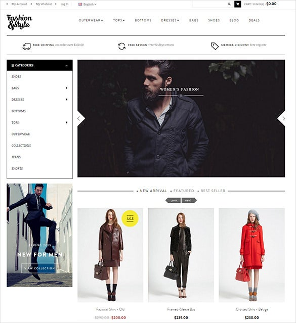 stylish fashion magento website theme