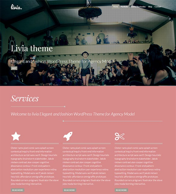 fashion model agency website theme