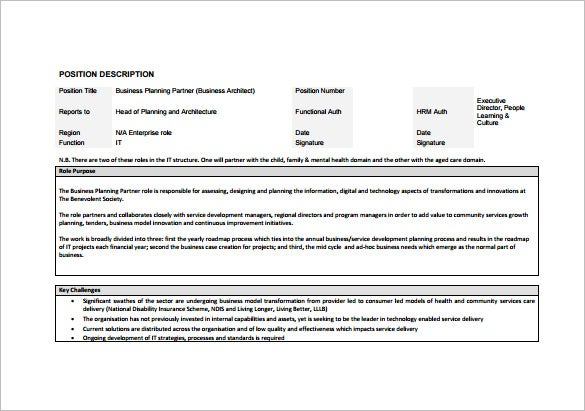 Architect Job Description Templates  Free Sample Example