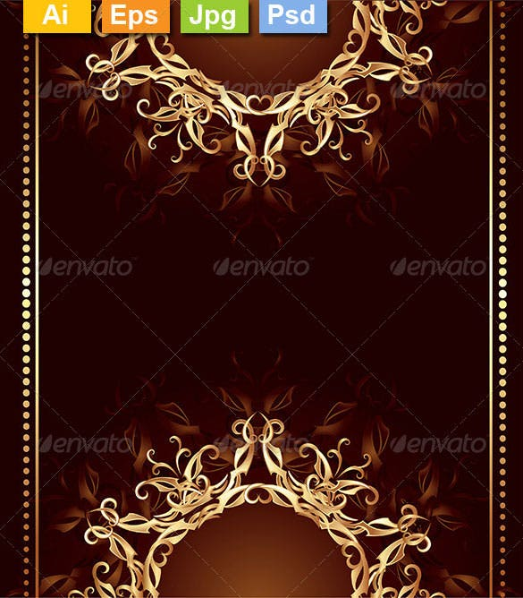 jewelry design on a dark brown background photoshop psd