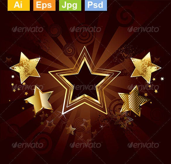star on a brown background ai illustrator download