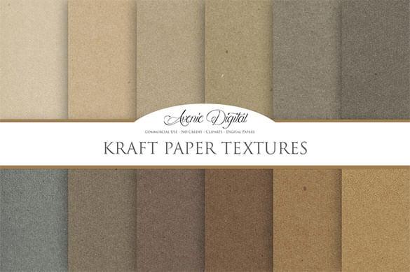 premium kraft paper brown background texture