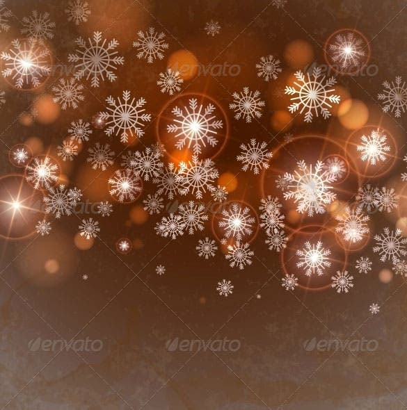 brown background with snowflakes eps download