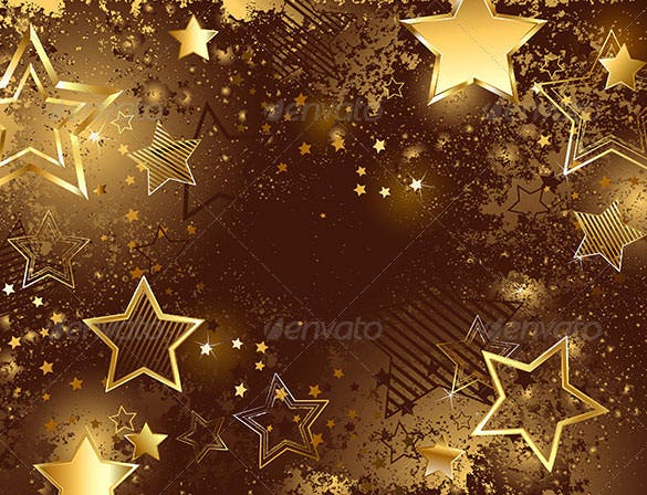 brown background with golden stars psd download