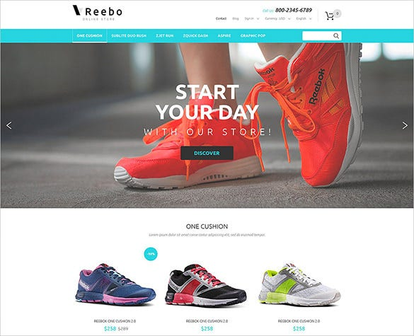 shoe store fashion prestashop theme