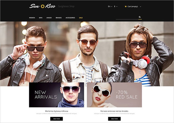 sun glasses fashion prestashop template