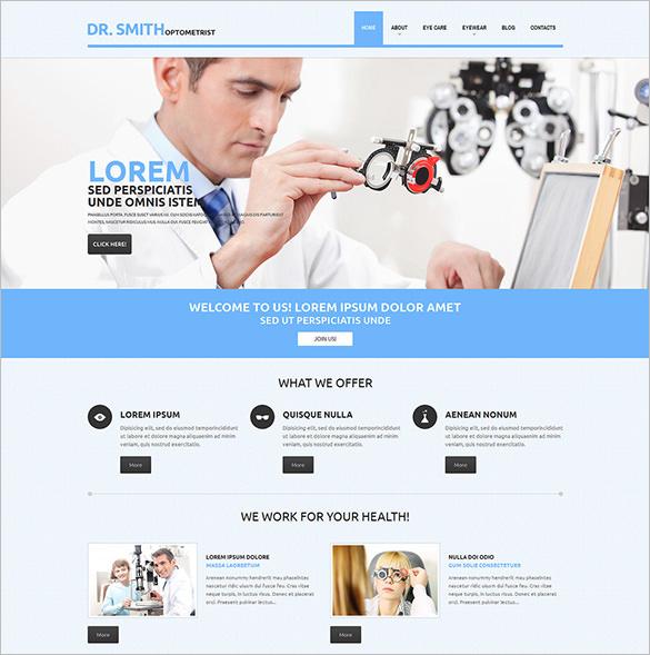 optometrist responsive blog theme download