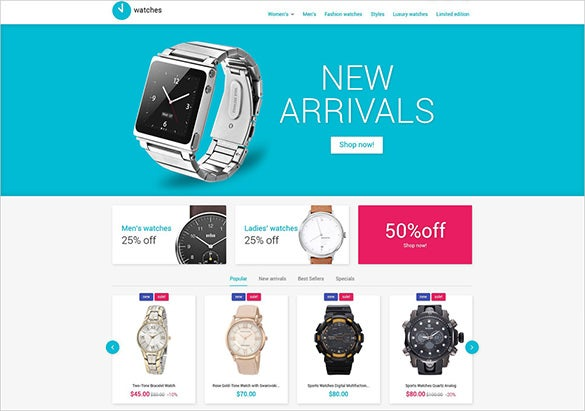 watch fashion prestashop theme