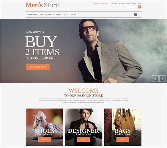 mens fashion prestashop theme