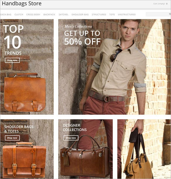 hand bags fashion prestashop template