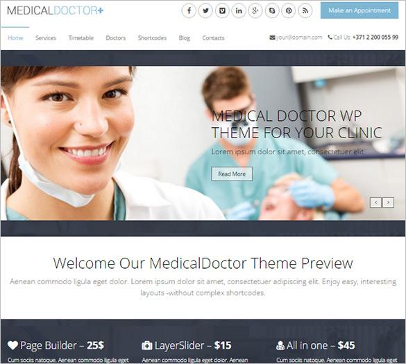medical doctor theme for dentist