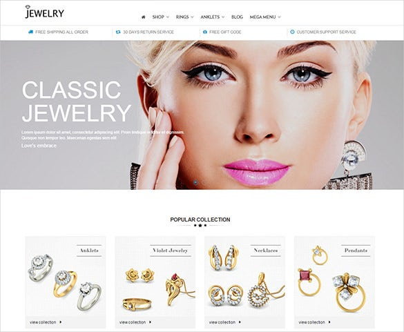 jewelry fashion prestashop template