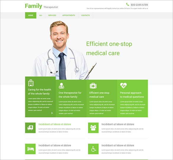 family therapeutist html5 template
