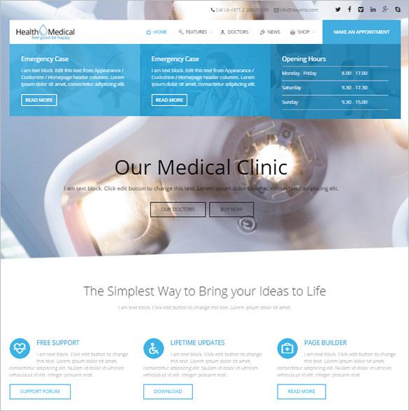premium html5 theme for medicine