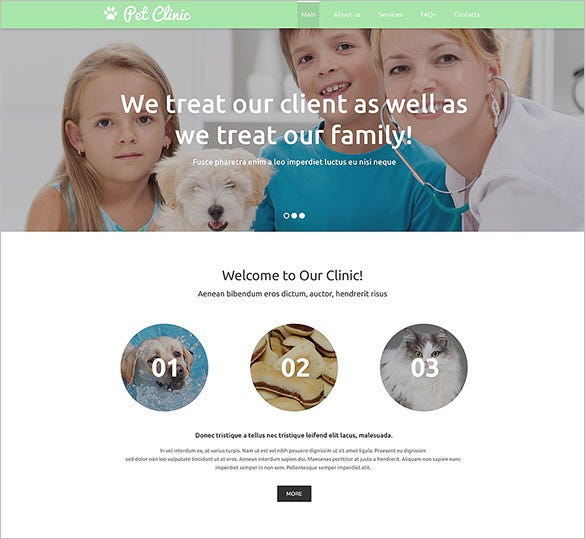 responsive html5 pet clinic template