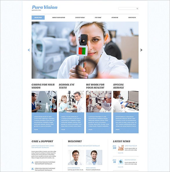 optometrist html5 doctor template
