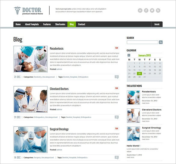 general physician html5 theme for you