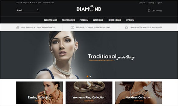 diamond jewelry fashion prestashop theme