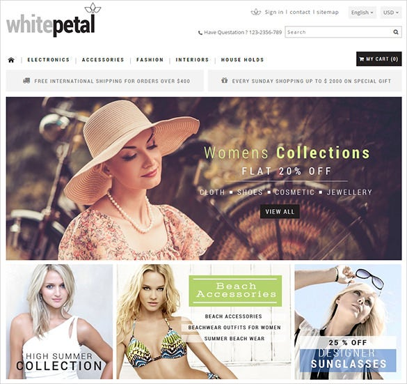 luxurious fashion prestashop template