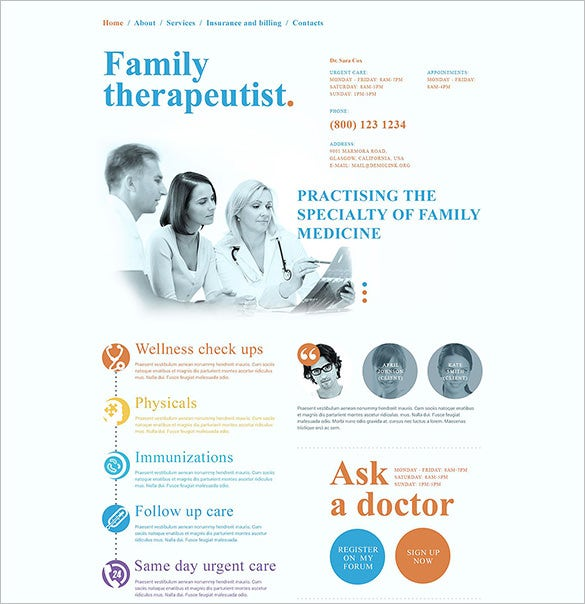 personal family doctor html5 theme