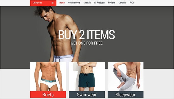 mens underwear zencart theme
