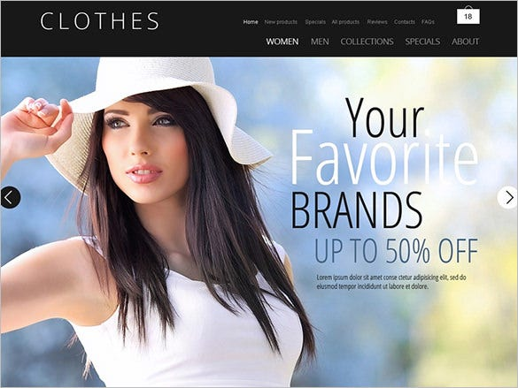 clothes fashion zencart template