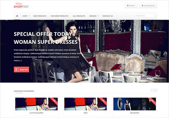 fashion shop zencart theme