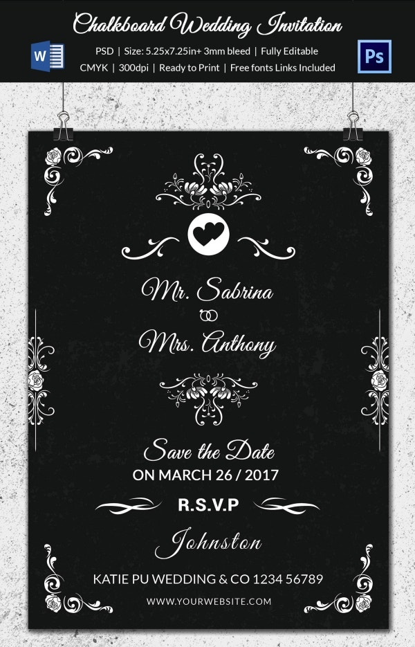 chalkboard-wedding-invitation