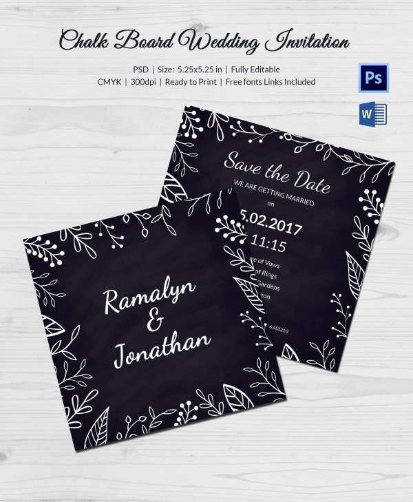 Wedding Program Chalkboard Template