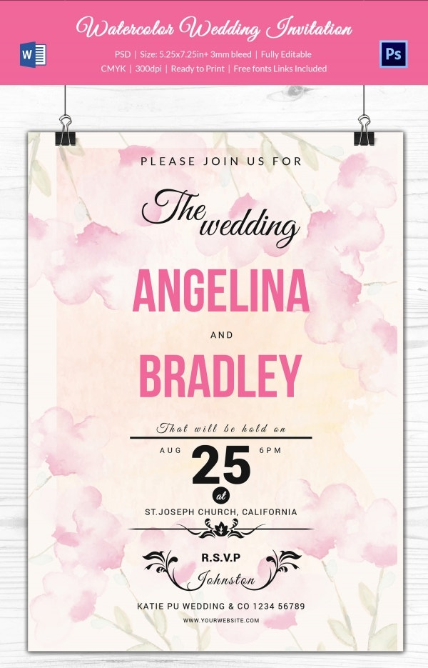 Premium Wedding Program Template