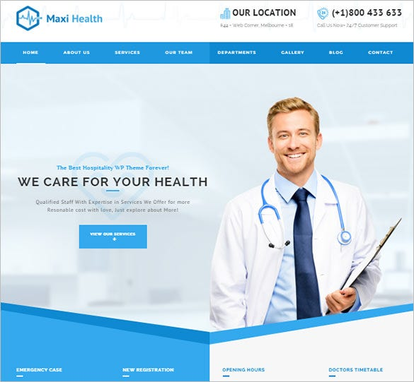 doctor bootstarp theme for general physician