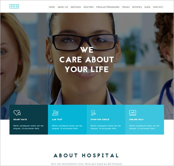 professional doctor bootstrap theme