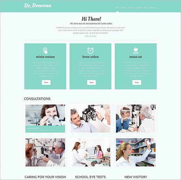 optometrist responsive bootstrap doctor theme