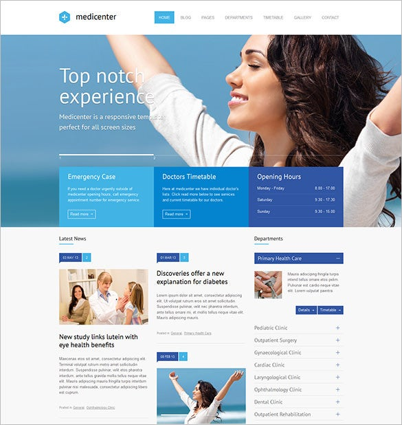 responsive doctor php theme
