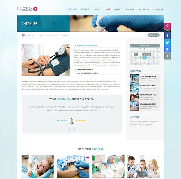 responsive doctor php theme download
