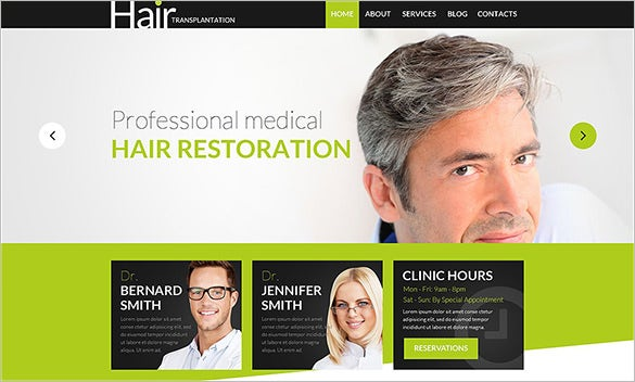 hair doctor psd theme