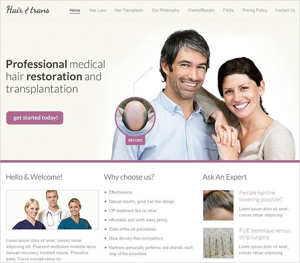 professional hair doctor psd template