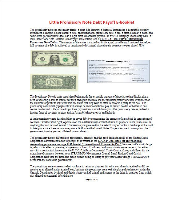 6+ International Promissory Note