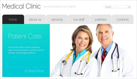 medical doctor psd theme