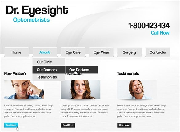 optometrist doctor psd template