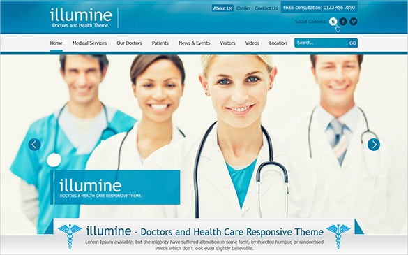 corporate doctor psd template