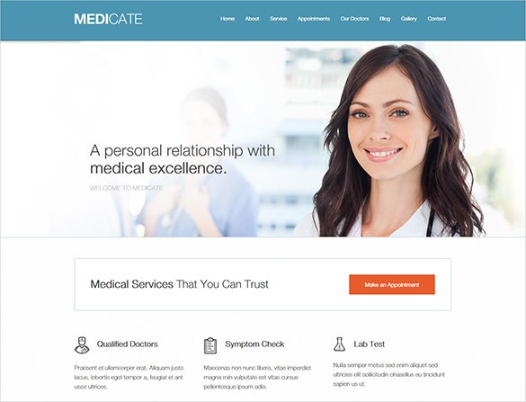 medicate doctor psd theme