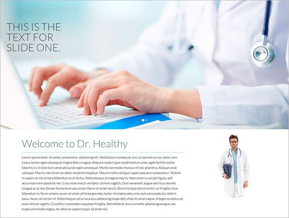 healthy doctor psd theme