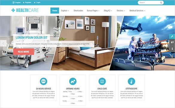 health doctor psd template