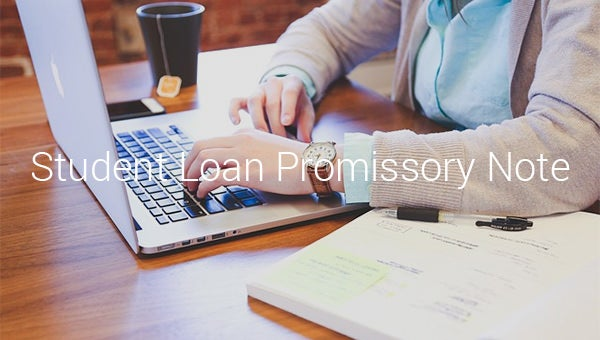 student loan promissory note