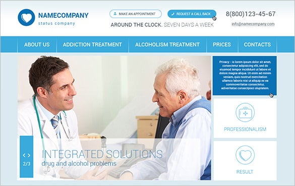 free doctor psd theme
