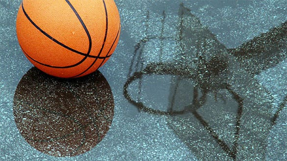 basketball pool reflection wallpaper background full hd