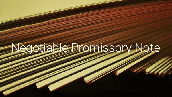 negotiable promissory note