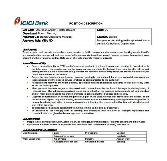 TCF Bank Teller Job Description PDF Free Download  Bank Teller Duties