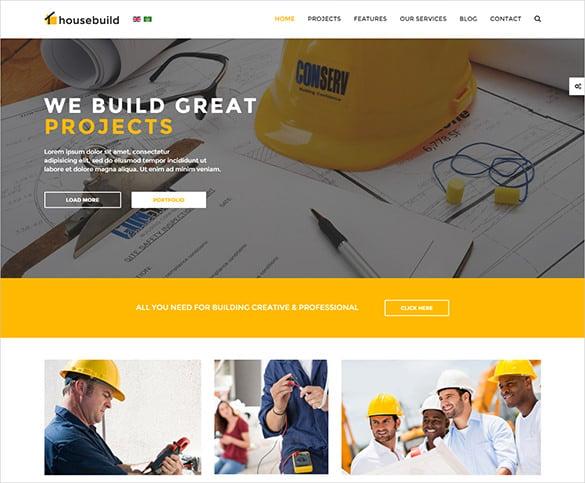 house build business joomla theme
